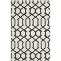 Handwoven Indoor/Outdoor Moroccan Dhurrie Ivory Wool Rug (5' x 8')