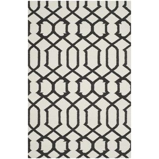 Safavieh Handwoven Moroccan Reversible Dhurrie Ivory Wool Area Rug (9' x 12')