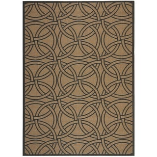 Martha Stewart Links Gold/ Black Indoor/ Outdoor Rug (6'7 x 9'6)