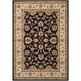 Safavieh Majesty Black/ Cream Rug (5'3 x 7'6)