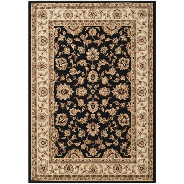 Safavieh Majesty Black/ Cream Rug (5'3 x 7'6)