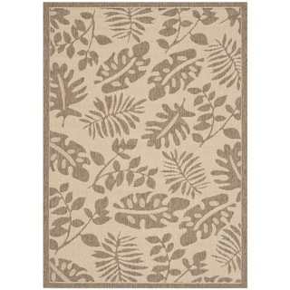 Martha Stewart Paradise Cream/ Brown Indoor/ Outdoor Rug (4'x 5'7)