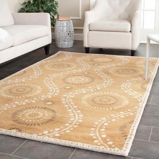 Martha Stewart Ogee Dot Curry Wool Rug (5'x 8')