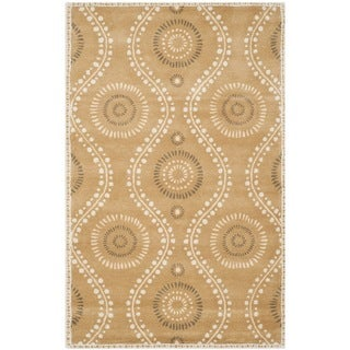 Martha Stewart Ogee Dot Curry Wool Rug (9'x 12')