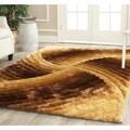 Safavieh Handmade 3D Shag Mink Rug (3'6 x 5'6)