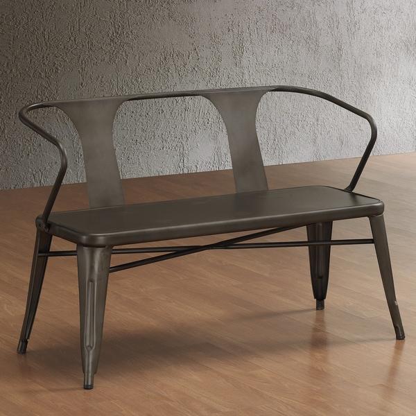 vintage distressed rustic metal dining chairs set of 4