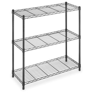 Whitmor Black Supreme Small 3-tier Shelving Unit