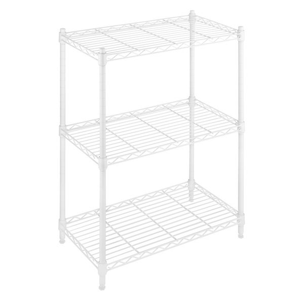 Whitmor Supreme Small White 3-tier Shelving Unit