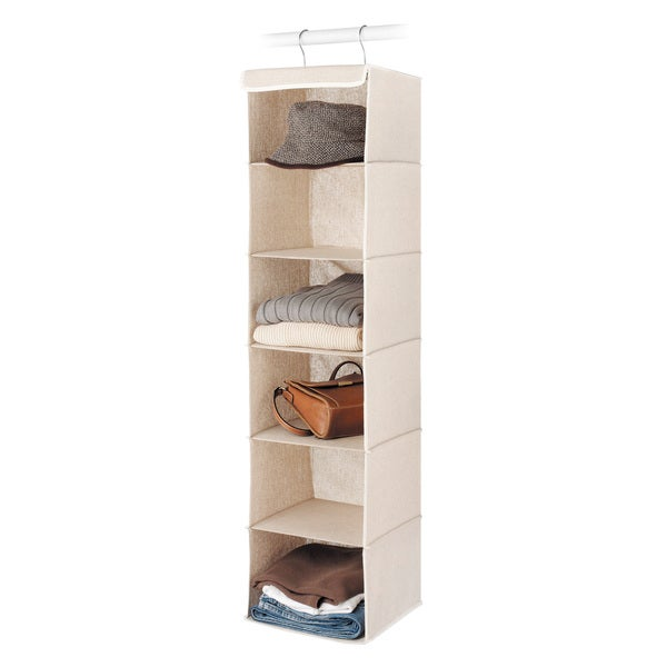 Whitmor Natural Linen Hanging Accessory Shelves