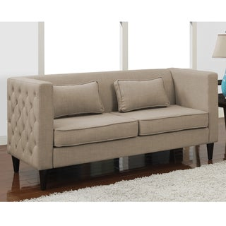 Dune Side-tufted Sofa and Rectangular Pillows Set