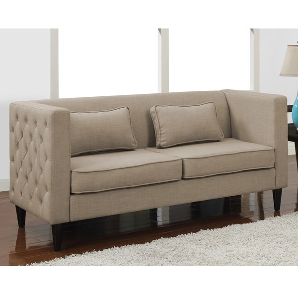 Dune Side tufted Sofa And Rectangular Pillows Set