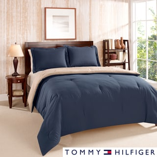 Tommy Hilfiger Solid Reversible 3-piece Comforter Set