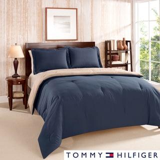 Tommy Hilfiger Solid Reversible 3-piece Comforter Set