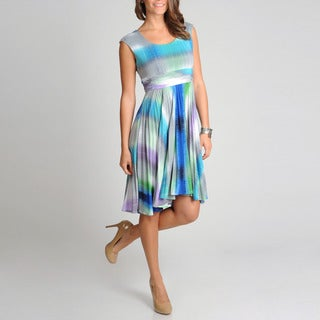 R & M Richards Women's Ombre Novelty Print Dress