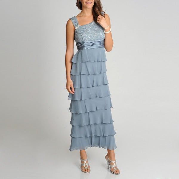 R & M Richards Women's Tiered Gown