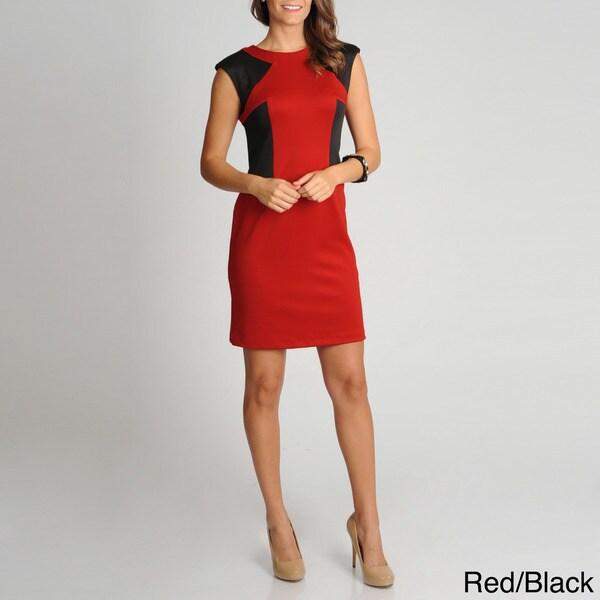 R & M Richards Women's Color Block Shift Dress
