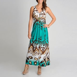 R & M Richards Women's Animal Novelty Print Maxi Dress