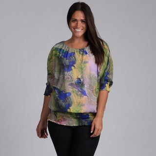 Madison Paige Women's Plus Colorful Top