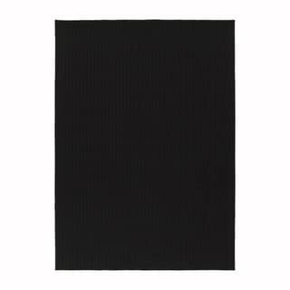 Somette Westlake Royal Black Area Rug (7'6 x 9'6)