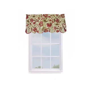 Waverly Imperial Dress Floral w/Stripe Valance