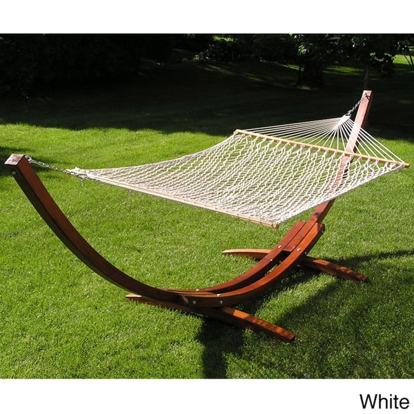 Wood Arc Hammock Stand and Poly Rope Set