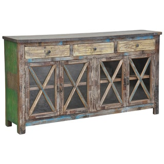 Snipe Distressed Reclaimed Wood Buffet Sideboard