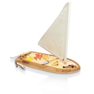 Picnic Time17-inch Saillboat Cheese Board Set