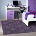 Peace, Love & Purple Area Rug (5' x 7')