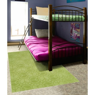 Somette Peace, Love & Lime Area Rug (7'6 x 9'6)