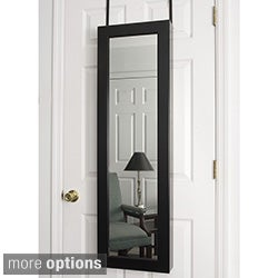 Contemporary Over-the-Door Wall Hanging Mirrored Jewelry Armoire