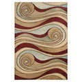 Lavish Home Waves Area Rug (5' x 7'3)