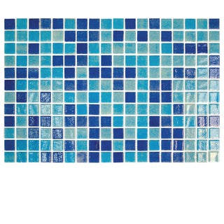 Eleganza Tiles Onix Pool Tile Nieve Color Blend Piscis 1 x 1 on a 12.2 x 18.1 Sheet (Pack of 14)