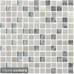 Emrytile 13.1-inch Onix Mystic Glass Mosaic Tile Sheets (Pack of 5)