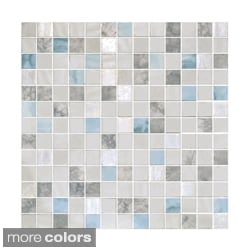 EmryTile 13.1-inch Onix Essence Glass Mosaic Tile Sheets (Pack of 5)