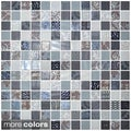 Emrytile 13.1-inch Onix Cosmic Glass Mosaic Tile Sheets (Pack of 5)