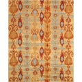 EORC Hand-tufted Ikat Wool Rug (7'9 x 9'9)