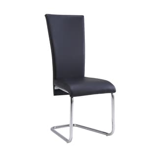 High Back Black PU Dining Chair