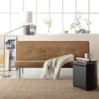 TRIBECCA HOME Click Clack Brown CA-Form and Microfiber Sofa Bed