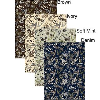 Artisan Floral Area Rug (5'5 x 7'7)