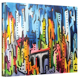 Jim Morana 'Raging City' Gallery-Wrapped Canvas