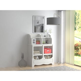 White Stipple Cubbie Storage Unit