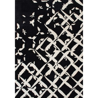 Alliyah Hand Made Cream New Zealand Blended Wool Rug (5' x 8')