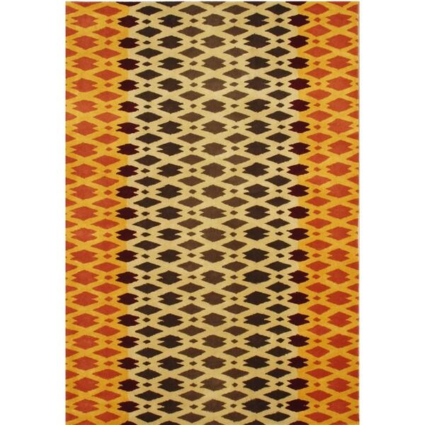 Alliyah Hand Made Carrot New Zeeland Blend Wool Rug (8' x 10')
