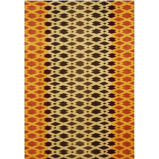 Alliyah Hand Made Carrot New Zeeland Blend Wool Rug (5' x 8')