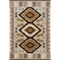 Alliyah Hand Made Beige New Zeeland Blend Wool Rug (5' x 8')