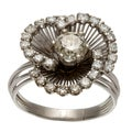 Platinum 1 1/2ct TDW Diamond Blooming Flower Estate Ring (J-K, SI1-SI2)