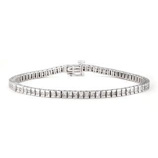 14k White Gold 3 7/8ct TDW Princess-cut Diamond Tennis Bracelet (G-H, I1)