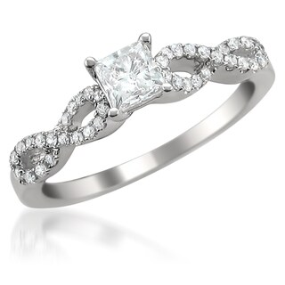 14k Gold 3/4ct TDW Princess-cut Diamond Engagement Ring (G-H, SI1-SI2)