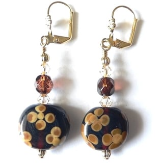 'EmmyLou' Lampworked Glass Dangle Earrings