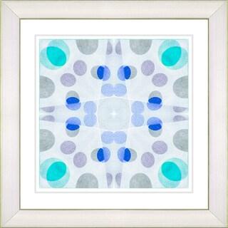 Studio Works Modern 'Origami Pattern - Blue' Framed Print